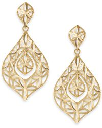 Macy's - Openwork Dangle Drop Earrings In 14k Gold - Lyst