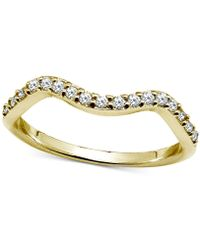 Giani Bernini - Cubic Zirconia Wave Band In Sterling Silver, Created For Macy's - Lyst
