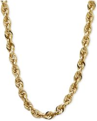 Macy's - Long Glitter Rope Necklace In 14k Gold - Lyst