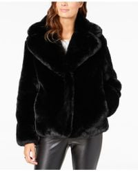 Vince Camuto - Cropped Faux-fur Coat - Lyst