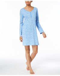 Charter Club | Printed Picot-trim Sleepshirt, Created For Macy's | Lyst