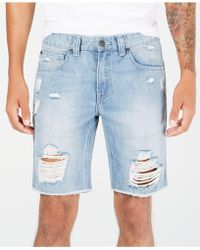 INC International Concepts - Ripped Denim Shorts, Created For Macy's - Lyst