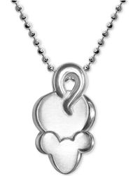 """Alex Woo - Mini Mouse Pendant 16"""" Necklace In Sterling Silver - Lyst"""