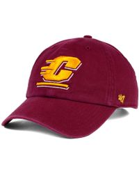 47 Brand - Central Michigan Chippewas Clean-up Cap - Lyst