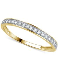 Macy's | Diamond Thin Band (1/5 Ct. T.w.) In 14k Yellow, White Or Rose Gold | Lyst