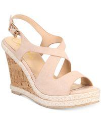 Callisto - Brielle Platform Wedge Sandals - Lyst