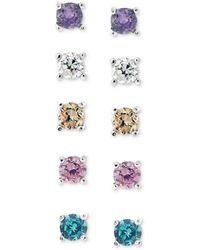 Giani Bernini   Sterling Silver Earring Set, Multicolor Cubic Zirconia Five Stud Earring Set (1 Ct. T.w.)   Lyst