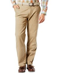Dockers - Men's Flat Front Classic-fit Washed Khakis - Lyst
