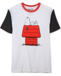 Jem - Lounging Snoopy Short-sleeve T-shirt - Lyst