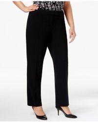 Anne Klein - Plus Size Straight-leg Pants - Lyst