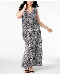 Charter Club - Plus Size Printed Maxi Dress, Created For Macy's - Lyst