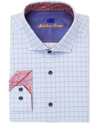 Michelsons Of London - Slim-fit Performance Check Dress Shirt - Lyst