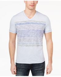 INC International Concepts - Stripe V-neck T-shirt, Created For Macy's - Lyst
