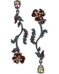 Betsey Johnson - Two-tone Multi-stone Flower Mismatch Earrings - Lyst