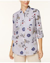 Charter Club - Linen Printed Shirt - Lyst
