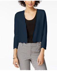 Charter Club - Cropped Scalloped Cardigan, Created For Macy's - Lyst