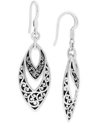 5301ad65d Lois Hill Small Signature Open Work Drop Earrings in Metallic - Lyst