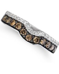 Le Vian - ® Vanilla Diamonds® (1/8 Ct. T.w.) And Chocolate Diamonds® (1/2 Ct. T.w.) Ring In 14k White Gold - Lyst