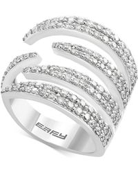 Effy Collection - Diamond Claw Statement Ring (1-1/3 Ct. T.w.) In 14k White Gold - Lyst