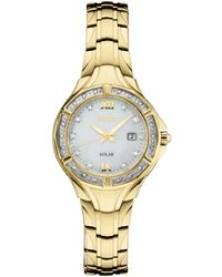 Seiko - Solar Diamond Collection Diamond-accent Gold-tone Stainless Steel Bracelet Watch 29mm, Created For Macy's - Lyst