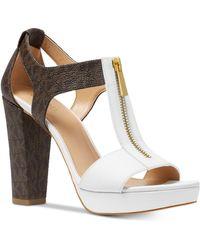 Michael Kors - Michael Berkley T-strap Platform Dress Sandals - Lyst