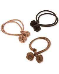 Lonna & Lilly - 3-pc. Set Double-knot Ponytail Holders, Created For Macy's - Lyst