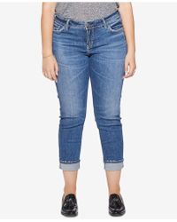 Silver Jeans Co. - Plus Size Suki Slim Ankle Jeans - Lyst