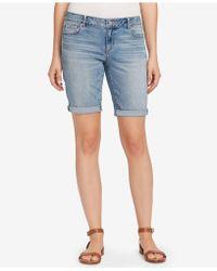 Vintage America - Petite Boho Bermuda Denim Shorts - Lyst