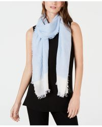 Eileen Fisher - Fringe Colorblocked Scarf - Lyst
