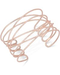 INC International Concepts - Rose Gold-tone Wire Cuff Bracelet - Lyst