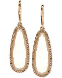 Lonna & Lilly | Large Stone Drop Earrings | Lyst
