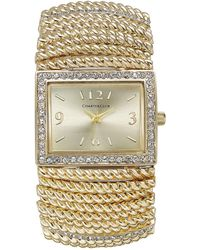 Charter Club - Gold-tone Stretch Bracelet Watch 30x34mm - Lyst