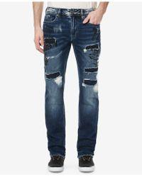 Buffalo David Bitton - Evan-x Slim-straight Fit Ripped Jeans - Lyst