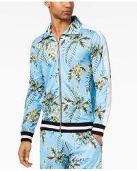 American Stitch - Floral-print Full-zip Mesh Track Jacket - Lyst