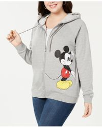 Hybrid - Plus Size Minnie & Mickey Mouse Zip Hoodie - Lyst