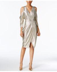 RACHEL Rachel Roy - Cold-shoulder Metallic Wrap Dress - Lyst