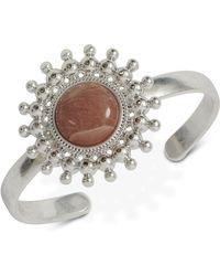 Lucky Brand - Silver-tone Stone Cuff Bracelet - Lyst