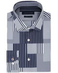 20727bd0c Tommy Hilfiger - Slim-fit Th Flex Non-iron Supima Stretch Patchwork Dress  Shirt