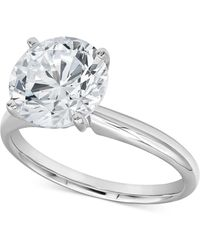 Macy's Diamond Solitaire Engagement Ring (3-1/2 Ct. T.w.) In 14k White Gold - Metallic