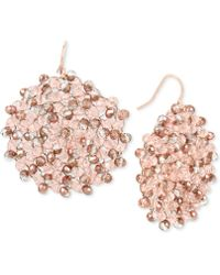 Kenneth Cole - Colored Bead Woven Drop Earrings - Lyst