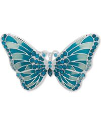 Anne Klein - Silver-tone Crystal & Enamel Butterfly Pin, Created For Macy's - Lyst