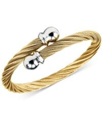 Charriol | Twisted Cable Bypass Bracelet In Gold-plated Stainless Steel | Lyst
