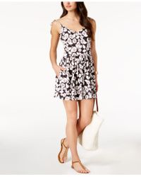 Kate Spade - Aliso Beach Floral-print Flared Romper Cover-up - Lyst