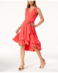 Vince Camuto - Layered High-low Dress - Lyst