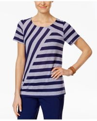 G.H.BASS - Mixed-stripe Top - Lyst