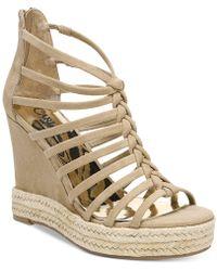 Carlos By Carlos Santana - Camilla Platform Wedge Sandals - Lyst