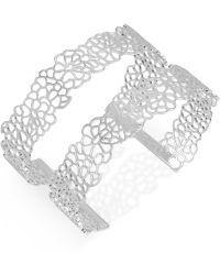 Touch Of Silver - Silver-tone Filigree Open Cuff Bracelet - Lyst