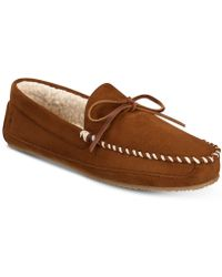 Polo Ralph Lauren - Markel Micro-suede Moccasin Slippers - Lyst