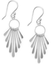 Giani Bernini - Paddle Drop Earrings In Sterling Silver, Created For Macy's - Lyst