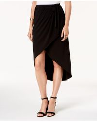 Alfani - Faux-wrap Midi Skirt, Created For Macy's - Lyst